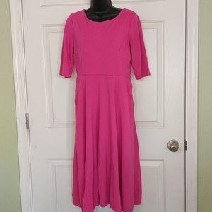 Lulu's Pink Midi Dress